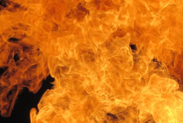 Dec 13 Triump over Baal - image of flames