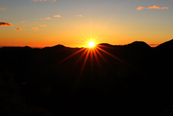 DEc 15 The Promise of LIght - images of sunrise over dark mountains