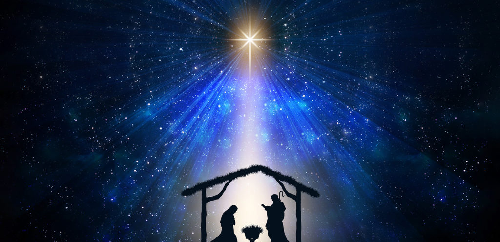Dec 25 Jesus Birth - images of stable under star