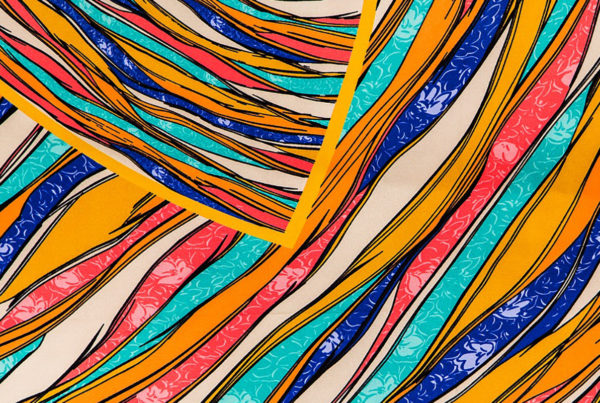 December 6: The Story of Joseph - image of colorful fabric