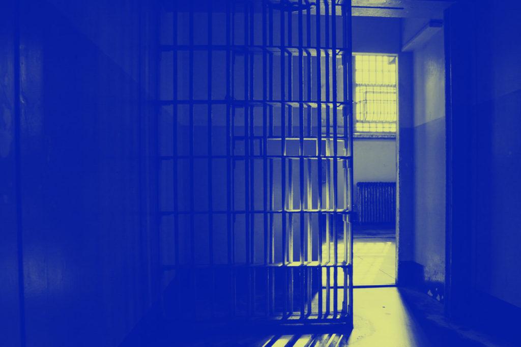 incarceration, represented by prison door