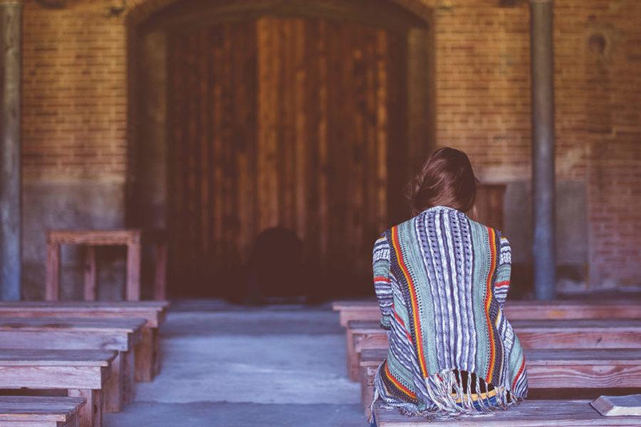 Girl engaging in the spiritual discipline of prayer