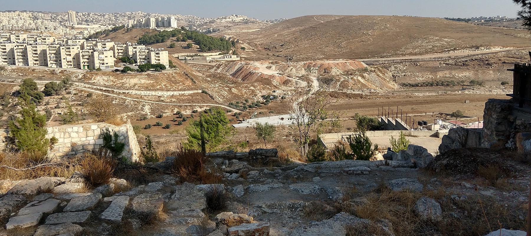 Shepherds' field in Bethlehem