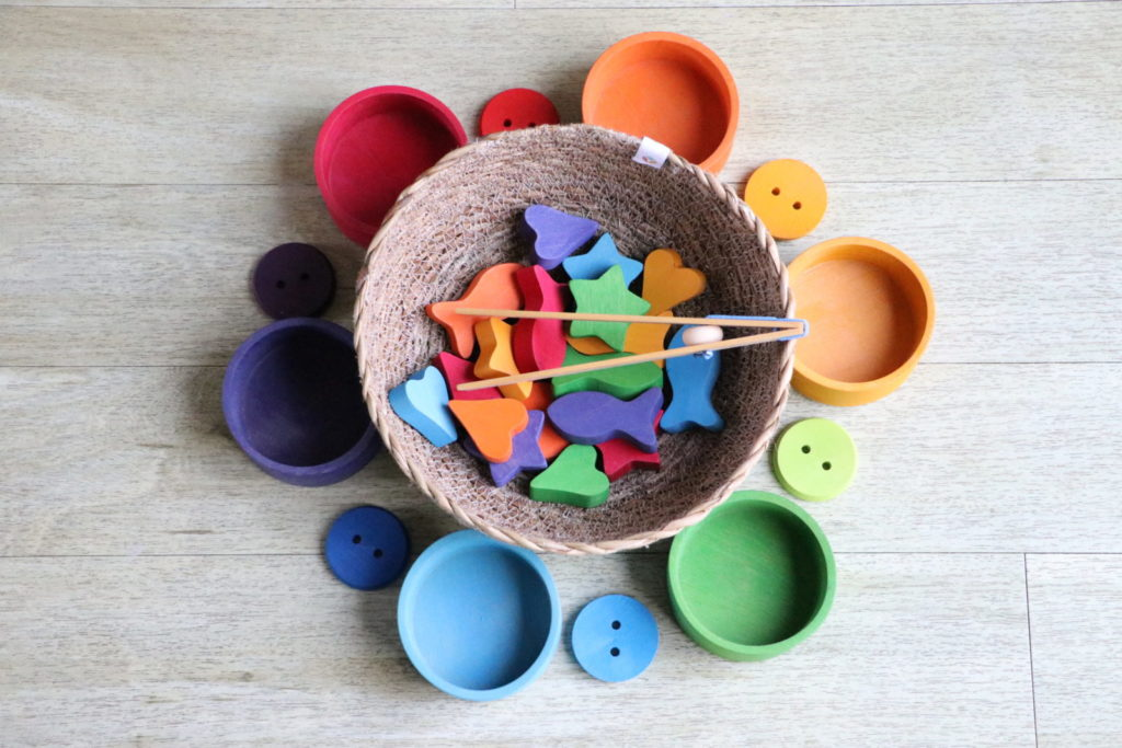 A colorful sorting toy