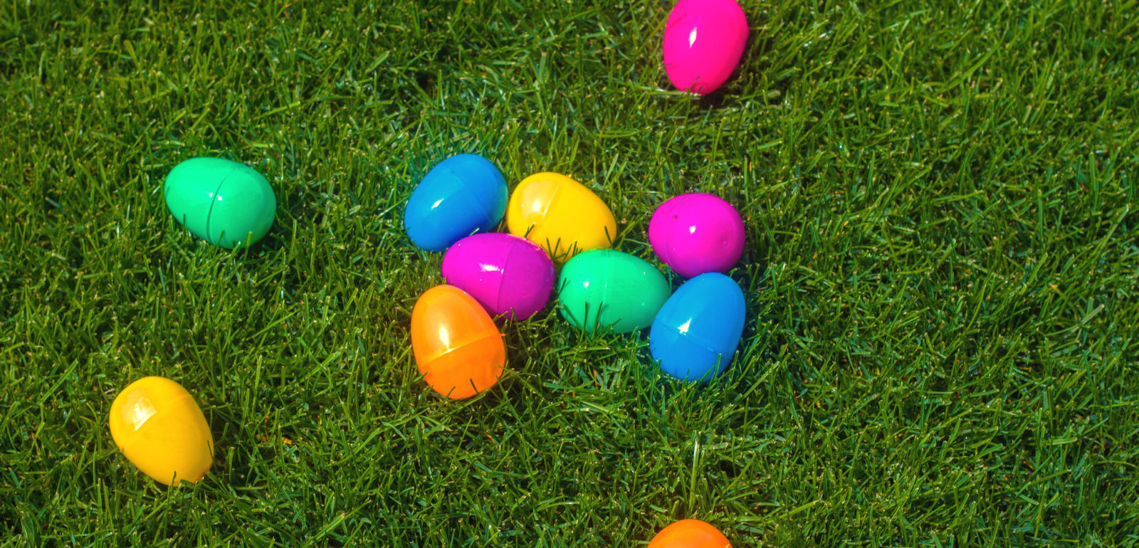 Colored plastic easter eggs used to make DIY Resurrection eggs