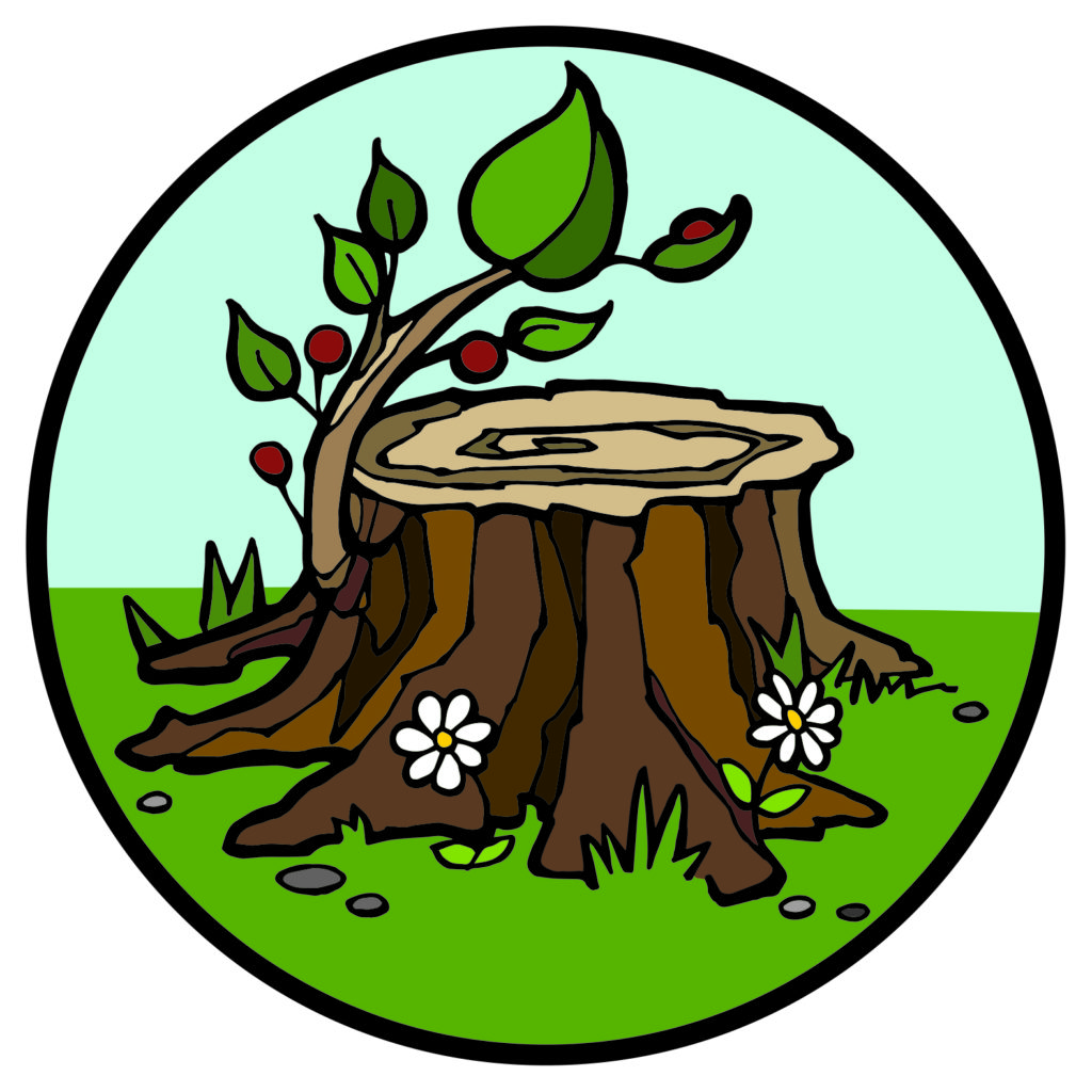 Tree stump with shoot Jesse Tree symbol