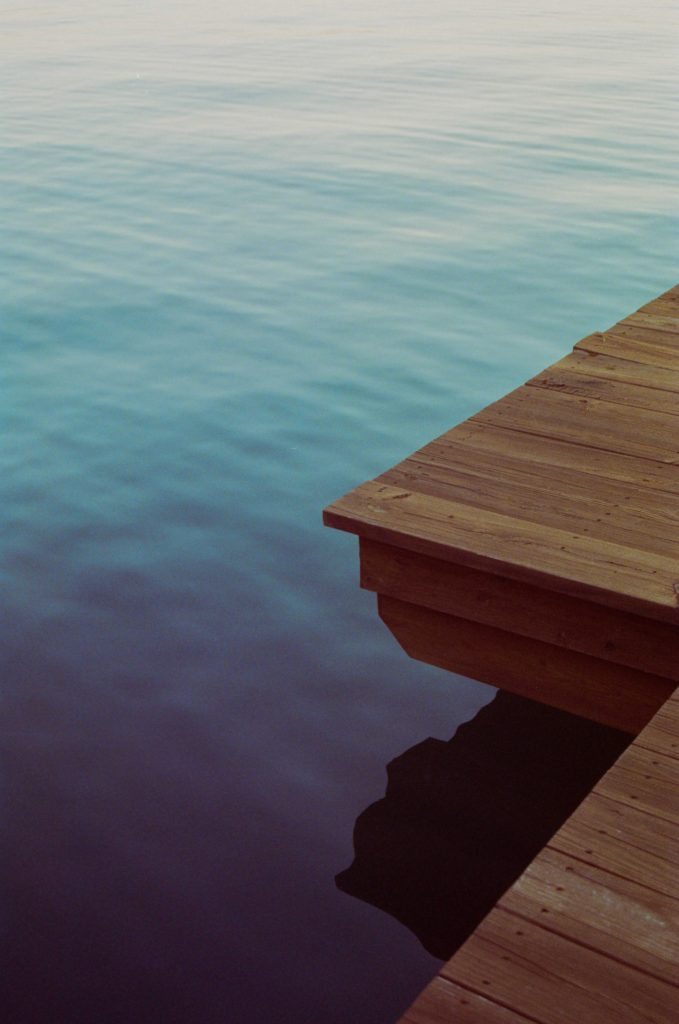 Stepping off of a dock onto a boat and trusting it to hold you is a metaphor for faith