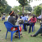 Students at the RECONCILE Peace Institute in Yei South Sudan performing a drama in class