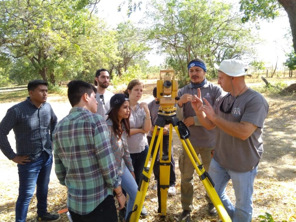 Diverse group surveying in Nicaragua