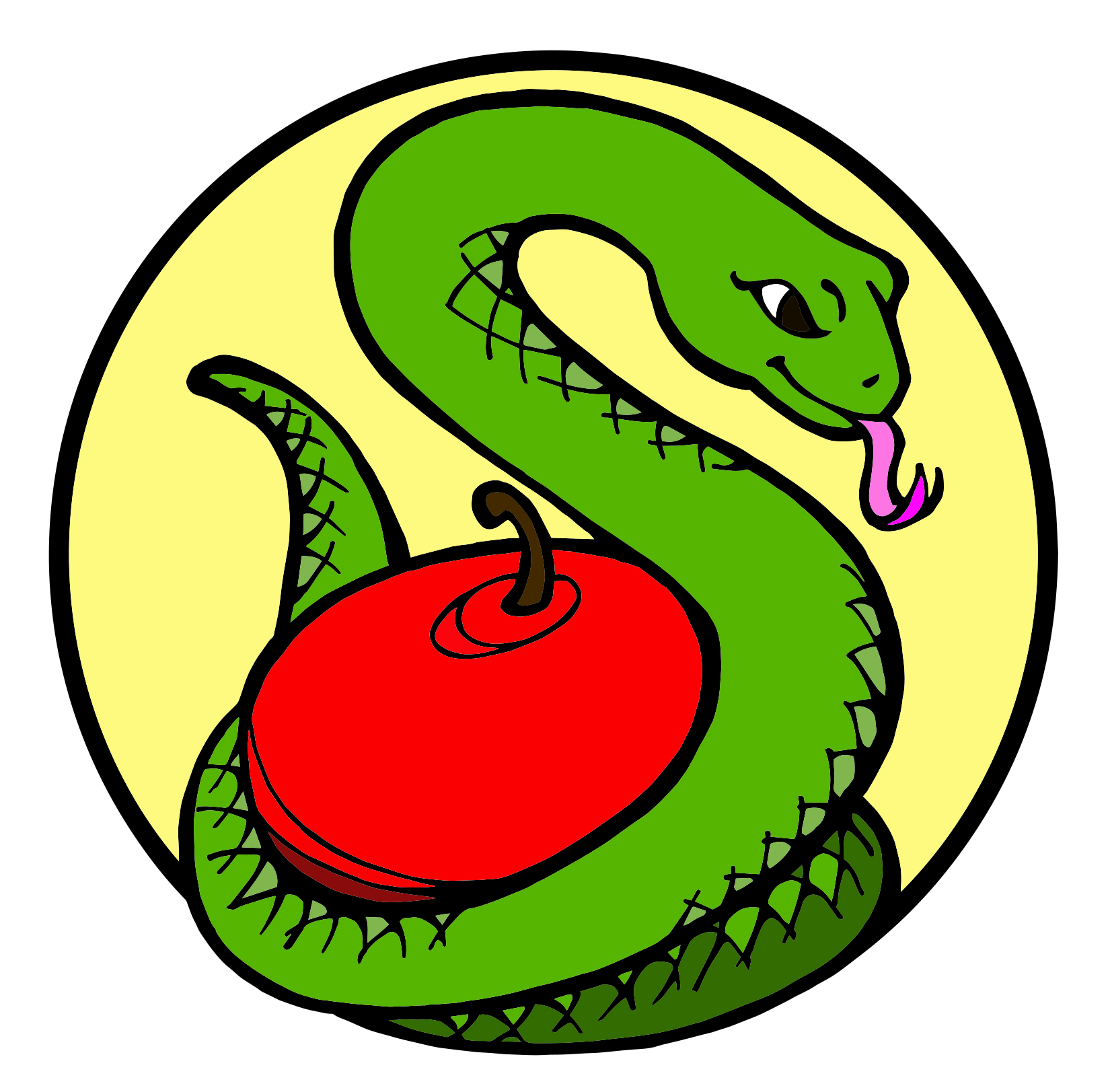 Snake with apple Jesse Tree symbol