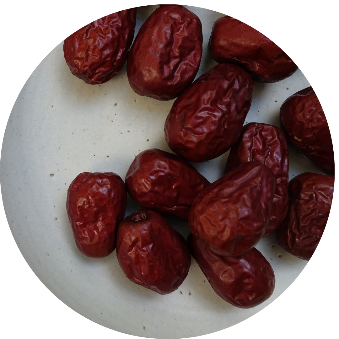 Dates on a plate