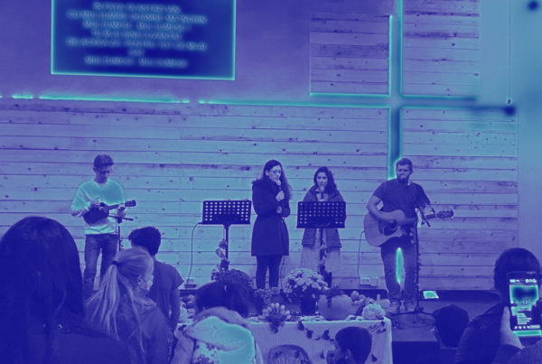 Church planters leading worship